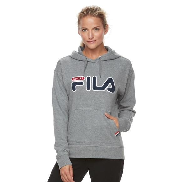 59833c49780b Fila Tops | New Womens Sport Logo Graphic Hoodie | Poshmark